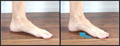 تمرین پای کوتاه برای اصلاح کف پای صاف