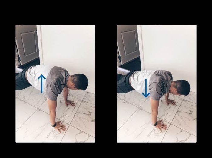 حرکت شنای استخوان کتف تمرینی جهت کاهش گیر افتادگی شانه